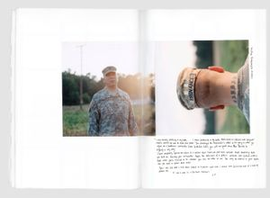 """Sam Provance joined the U.S. Army in 1998. He was deployed to Iraq in 2003. He was based at Abu Ghraib for 5 months. Sam disobeyed direct orders from his commanders and was demoted. Eventually, he was honorably discharged. From the photobook """"The Grey Line"""" © Jo Metson Scott"""
