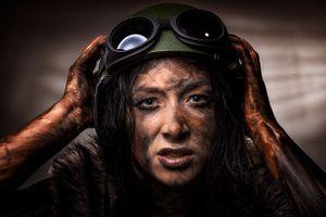 Woman warrior soldier 2