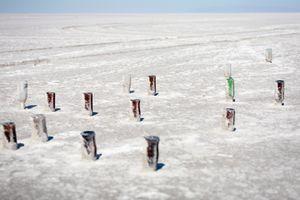 Beer Bottles, Bonneville Salt Flats, UT, 2012 © Patti Hallock