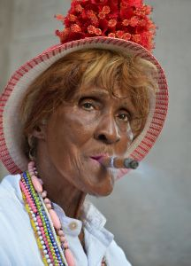 The lady with the cigar