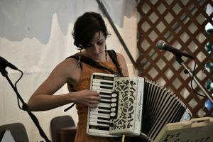 Sara Curtin, of the duo The Sweater Set, Washington Folk Festival