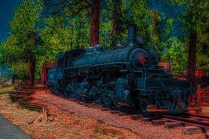 Blue Train-Engine 12-Birch Edition