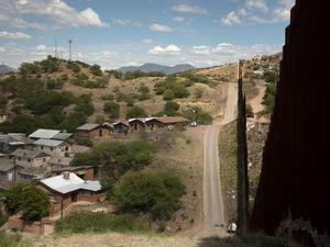 Border Wall between Nogales, Arizona and Nogales, Sonora