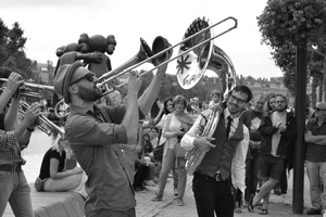 Members of Neutral Ground Brass Band, Amsterdam