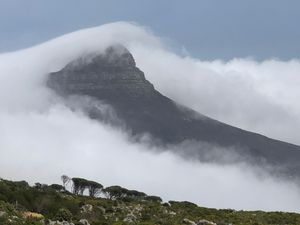 The Lion's Head in the clouds