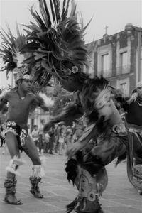 Concheros dancers