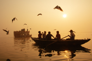 Morning in the Ganges. India