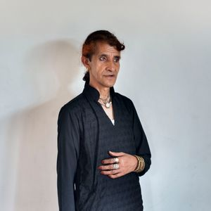 Muskaan, 45 years old, from Srinagar.Despite facing daily harassment and discrimination, Muskaan love to wear girl dress and make up. She is working as community worker in NGO. By the age of 6 she became aware about her gender identity, and nowadays lives on rent with other community member.