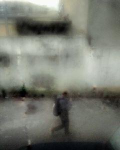 Man waling on street