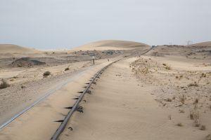 Railway tracks after the sandstorm