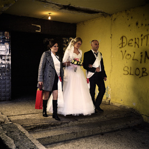 Gracanica, Kosovo. December 2014. A wedding day in the enclave of Gracanica.