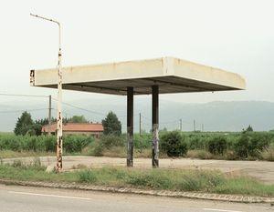 """Station #3, from """"Twentysix Abandoned Gasoline Stations"""" © Eric Tabuchi"""