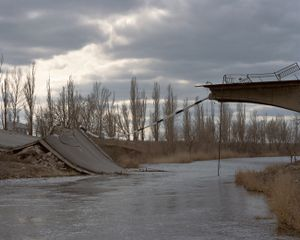 A bridge in Semenivka - one of the first front lines. Semenivka, ATO zone, Ukraine, March 2015.