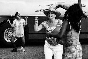 Dancers By Bus, Austin, Texas, 2010