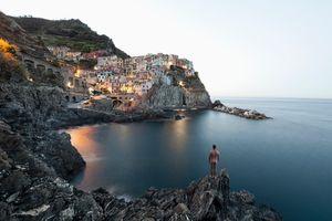 The naked man at Manarola, Cinque Terre