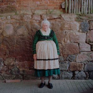 Gertrud Lesch, Protestant Marburger Land, 2014. From the series: The last women in their traditional peasant garbs