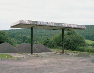 """Station #4, from """"Twentysix Abandoned Gasoline Stations"""" © Eric Tabuchi"""