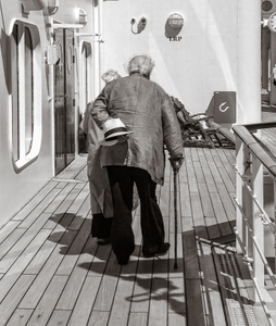 Strolling on deck