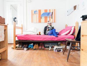 Nikki in Her College Dorm
