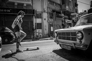 Skating the streets