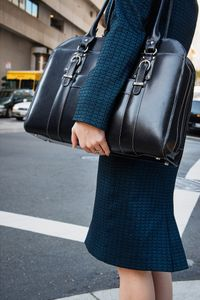 Lady with Big Black Handbag