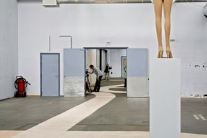 Inside the halls of the former AKZO facility at Arnhem at the time of the third Fashion Biennale (2011)