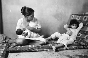 Nursing, Bourj El Shamali Camp, Tyre Lebanon 2005