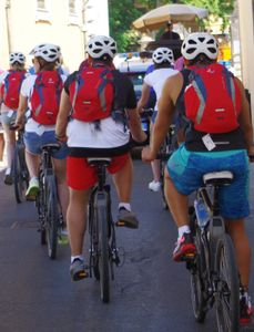 Cyclists in Pisa