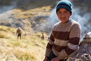 A young boy named Américo in the remote Andean community of Huamanachoque