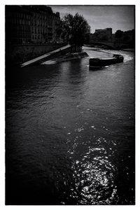 Boat on the Seine, Paris.