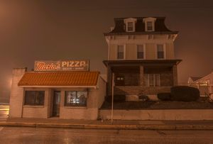 Marios Pizza and a Big House