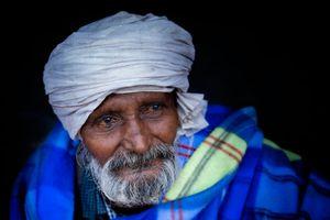 Un beau mendiant a Delhi