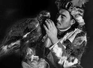 Affection between a Hunter and His Eagle