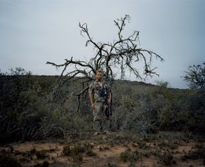 barefoot hunter, eastern cape, south africa-from the series 'hunters'-David Chancellor