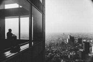 Man in Skyscraper