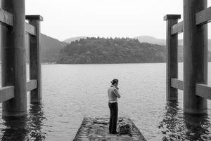 Prayer on Lake Ashi