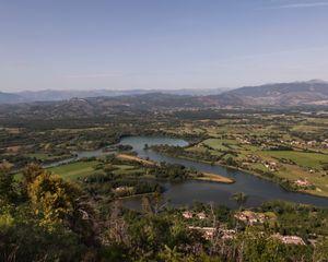 San Giovanni Incarico Lake, Frosinone.