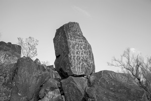 Petroglyph Damaged by Bullets