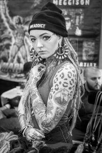 Morgin Riley at Philadelphia tattoo convention