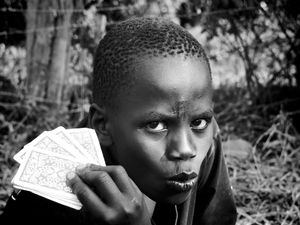 Card Player at Embrace shelter, (Kitale, Kenya)