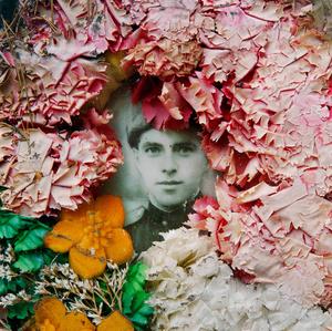 Germany East, Potsdam. Headstone portrait at a Soviet army cemetery.