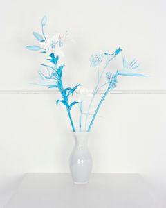 Fake Flowers in Cyan