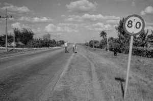 Horse and bike ,Cuba,  Santiago de Cuba, Kuba, January 1996