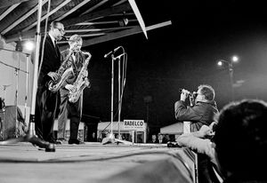 Al Cohen and Zoot Sims at the Belgian Jazz Festival (2), Bilzen, 1967