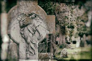 Cemetery at St Maelruains, Tallaght, Dublin, Ireland.