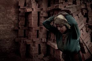 Nepali Woman Carrying Bricks