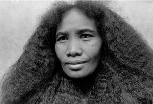 """""""Woman With Her Hair Down"""" Ranomafana National Park 1994"""