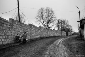 This wall along the main road of Chinari serves to protect the villagers.