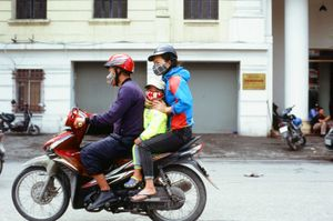 A family on a bike