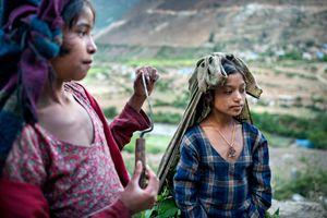 The nepali children labours.